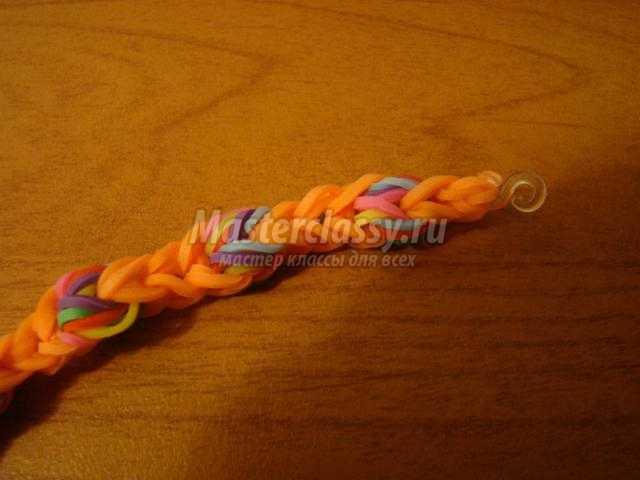 И браслеты из резинок на рогатке мастер класс