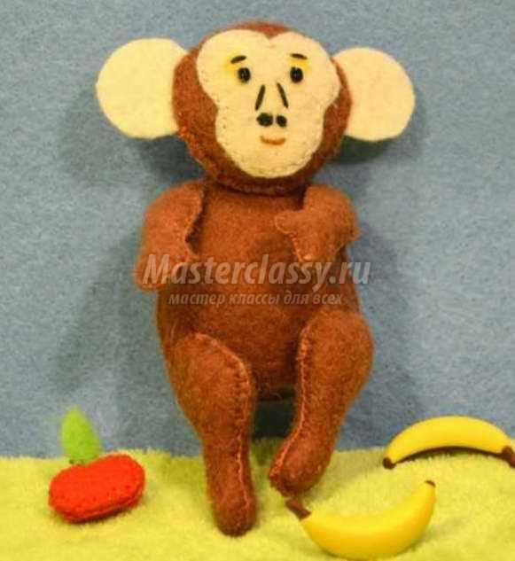 Игрушка обезьянка: выкройка и пошаговый МК