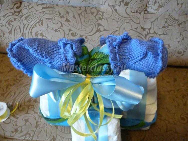 Как сделать новорожденному шапочку из пеленки 135