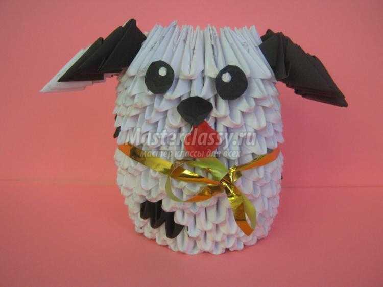 модульное оригами. Собака