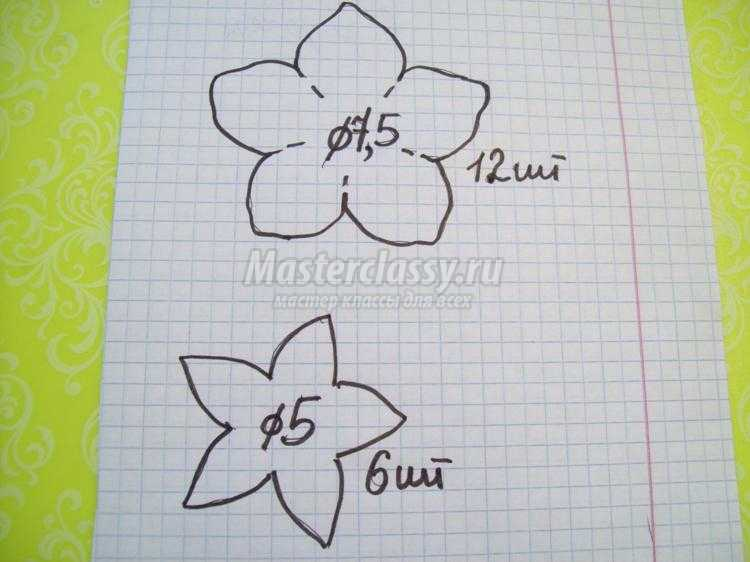 сетка для волос с розами из фоамирана. Юлия