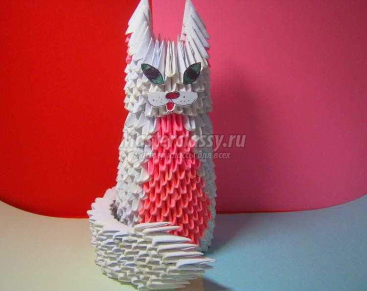 Собачка из модульного оригами 140