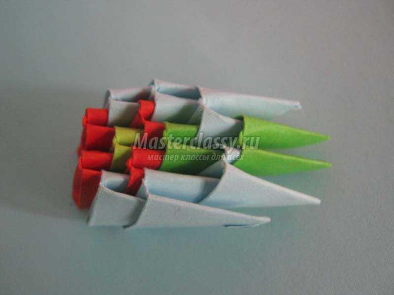 оригами из бумаги павлин