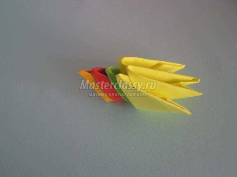 оригами птица павлин