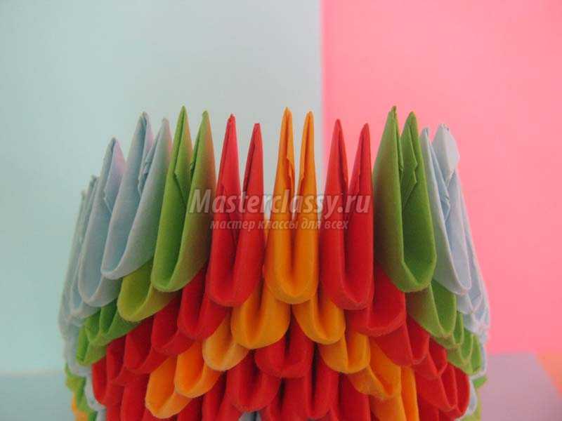 как сделать оригами павлина