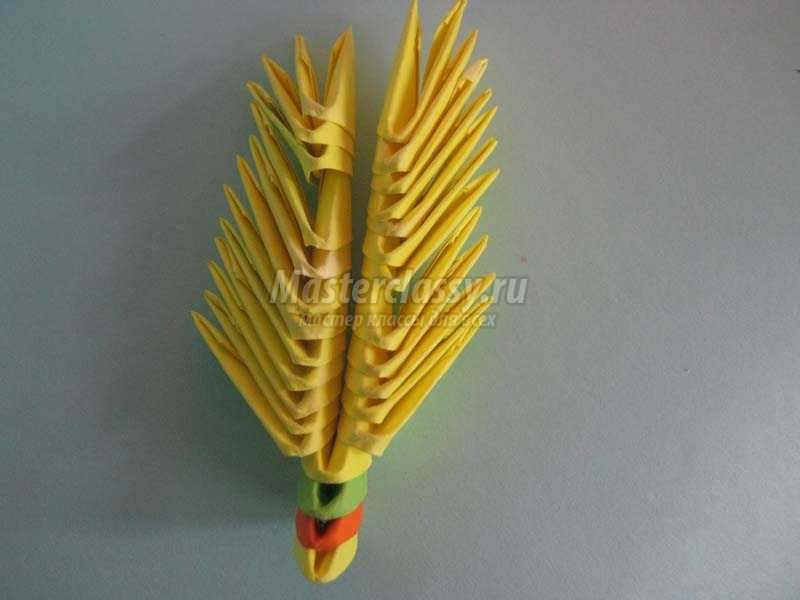 поделки оригами павлин