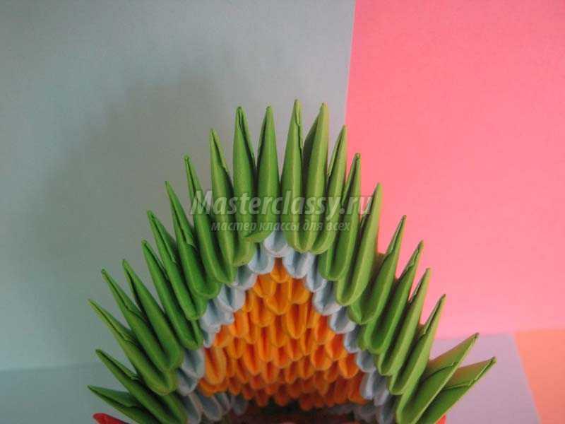 как сделать павлина оригами фото