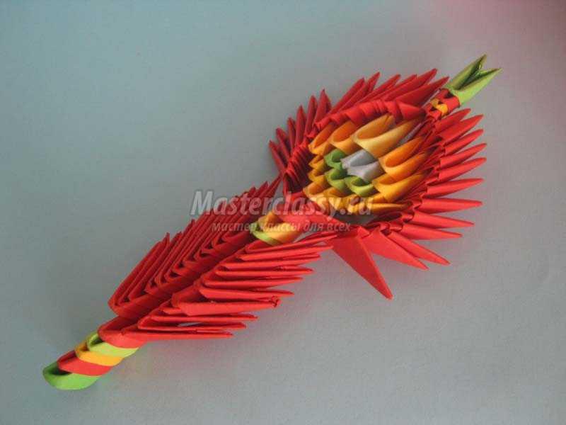 павлин оригами из модулей мастер класс