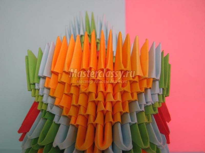 оригами сборка павлина