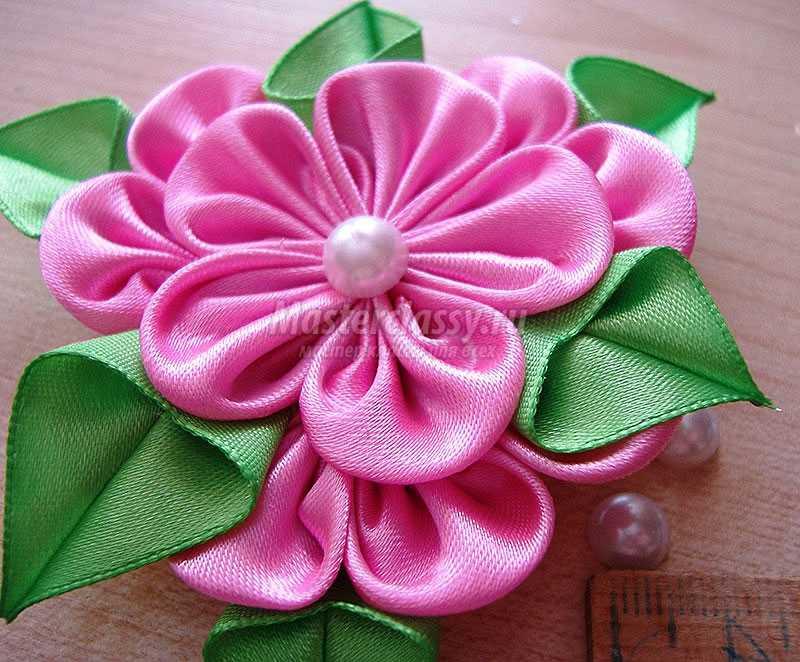 канзаши мастер класс, цветы