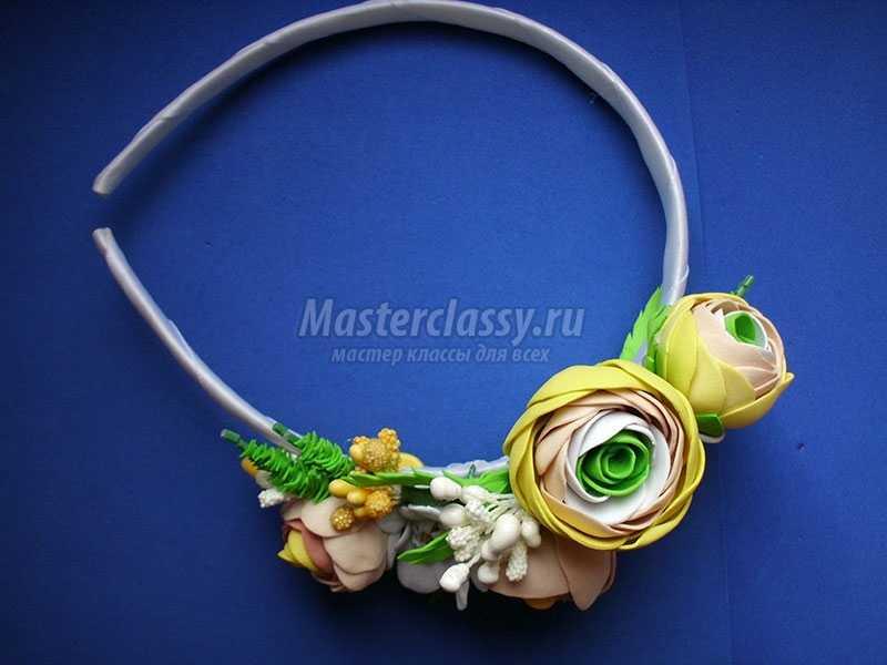 Мастер класс ободки с цветами