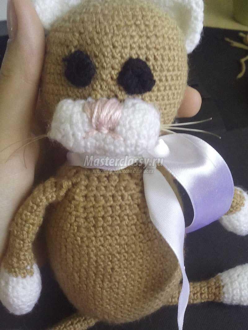 Моня. Вязаный кот крючком. Мастер-класс с фото