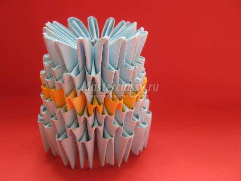 Как сделать модульное оригами снеговик 38