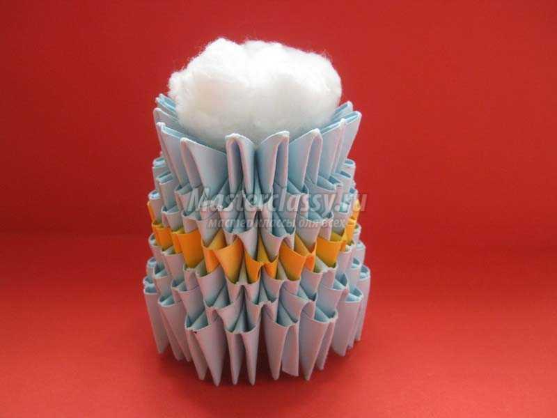Как сделать модульное оригами снеговик 537