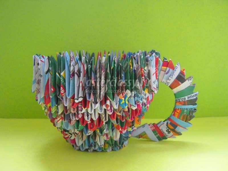 Кружковые работы оригами