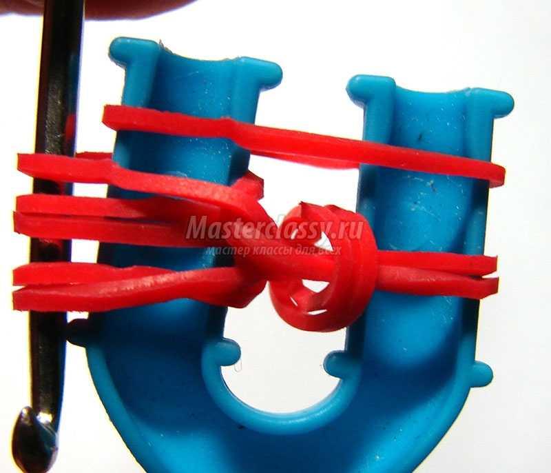 Плети браслеты резинок крючком