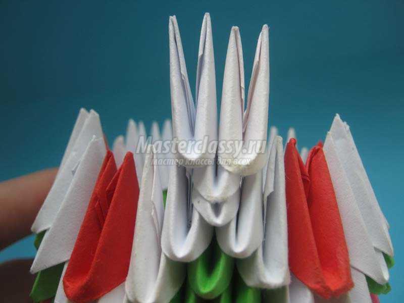 ваза модульное оригами сборка