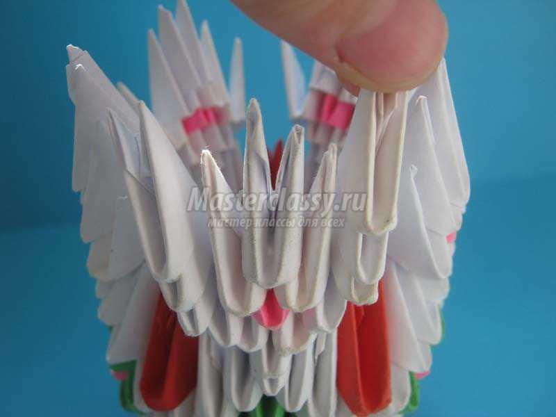 модульное оригами вазы мастер класс