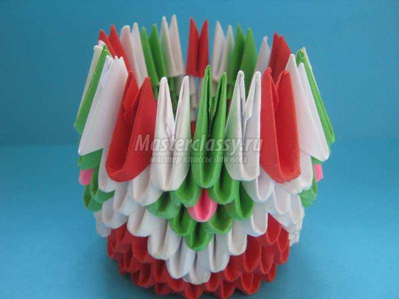 модульное оригами сборка вазы