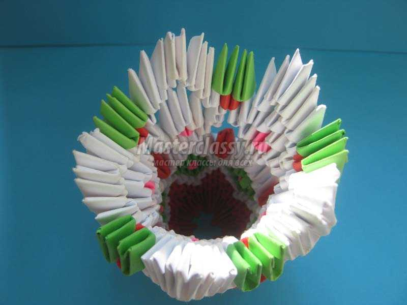 пошаговое модульное оригами ваза