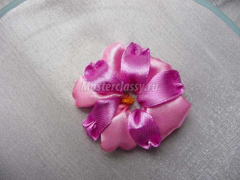 схемы вышивки лентами цветы