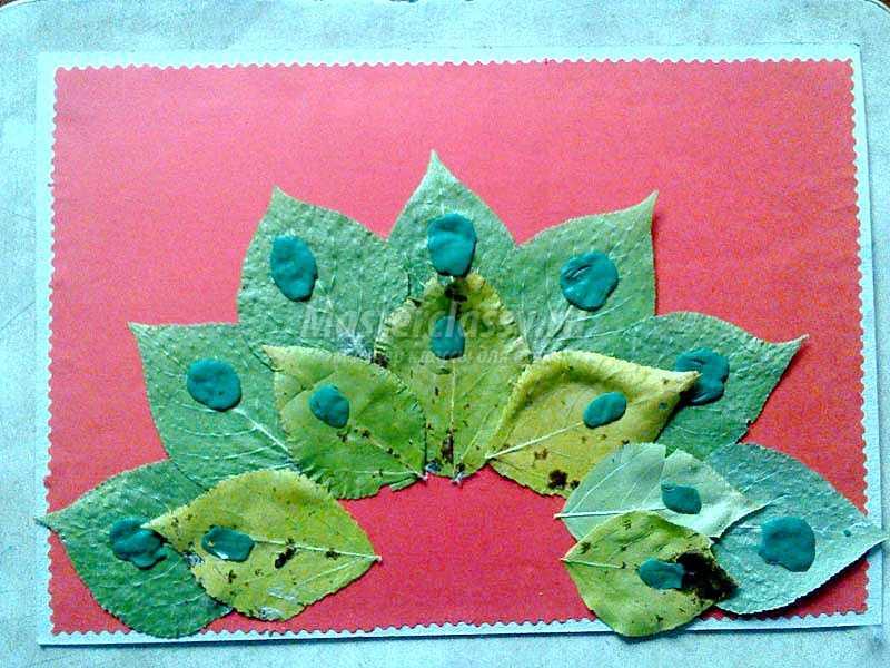 Картина из листьев своими руками поэтапно