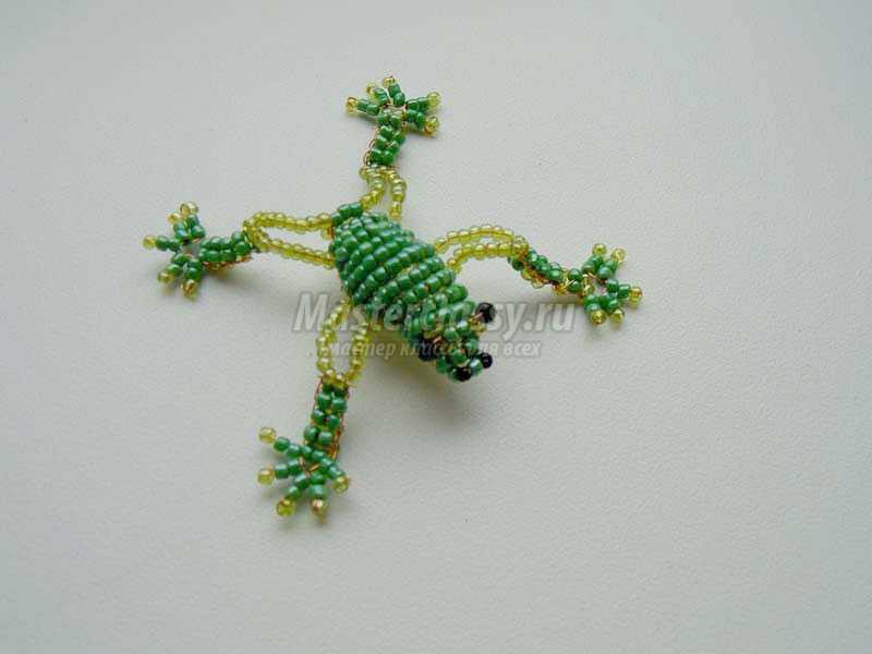 Лягушка из бисера с пошаговыми