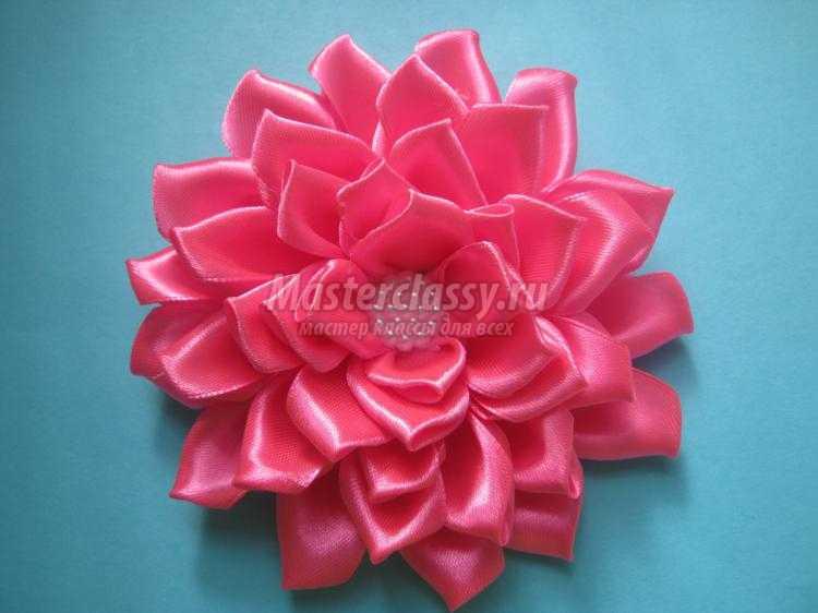 Как делать канзаши цветы из атласных лент своими руками мастер-класс