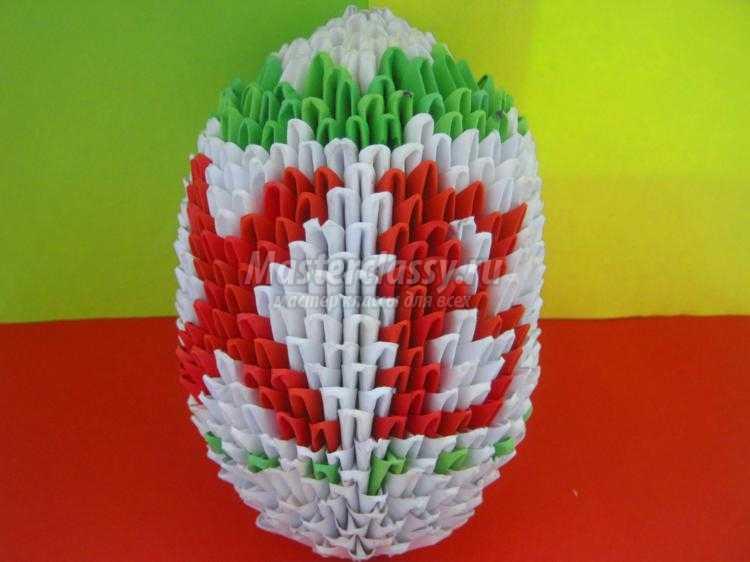 Яйцо оригами мастер класс пошаговый #1
