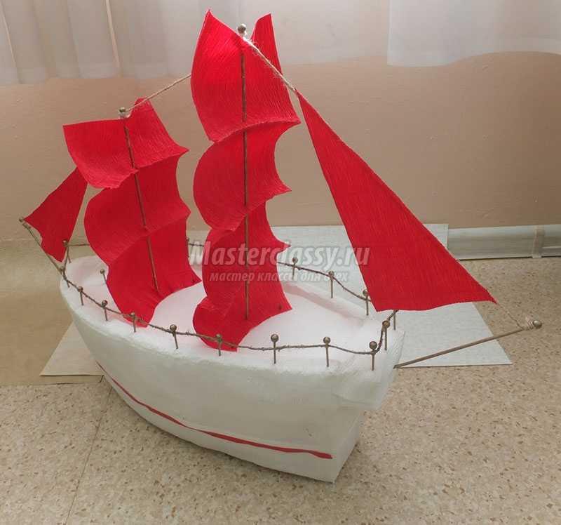 Кораблик своими руками из пенопласта фото