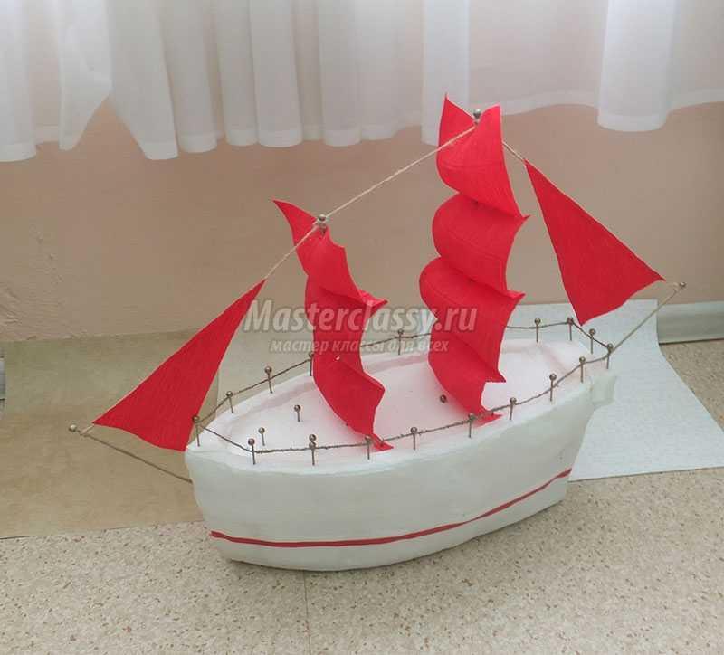 Судно корабль из пенопласта своими руками 13