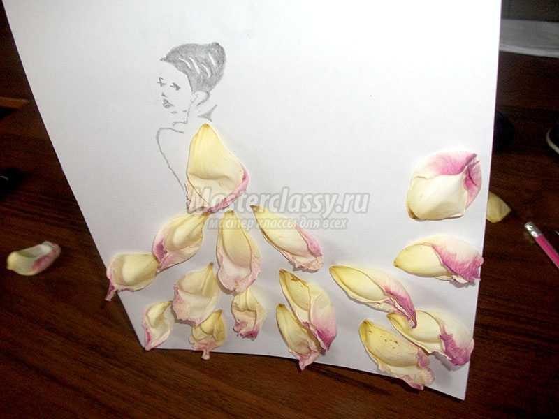 картины из лепестков роз своими руками