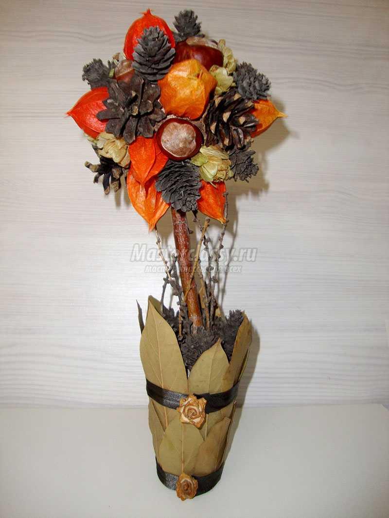 Осенний топиарий своими руками фото 87