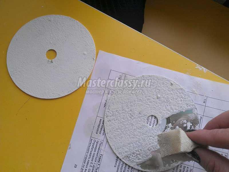 Декупаж на дисках для начинающих пошагово с из салфеток