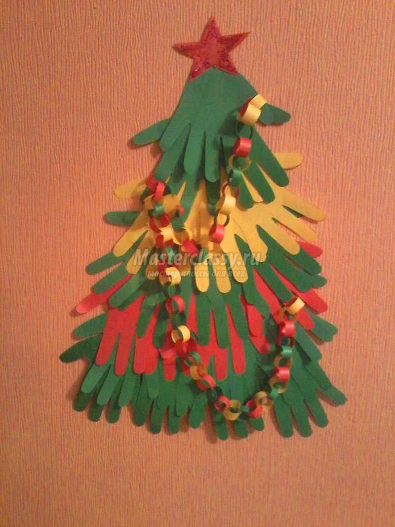 Новогодние поделки из цветной бумаги 2 класс