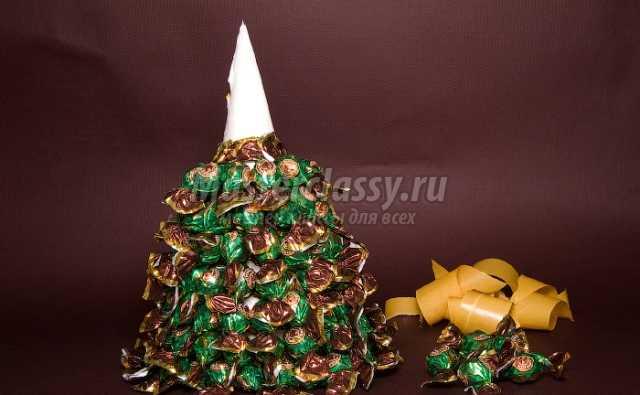 Елка из конфет: лучшие идеи, фото и мастер-классы