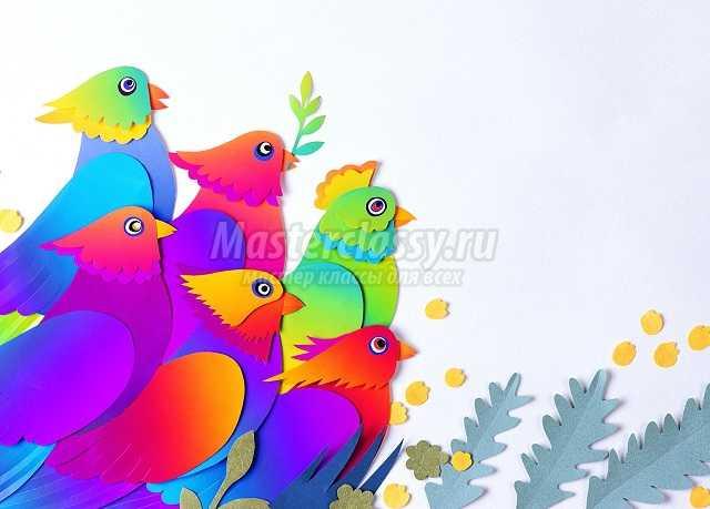 Аппликация птицы: делаем своими руками. Идеи и мастер-классы