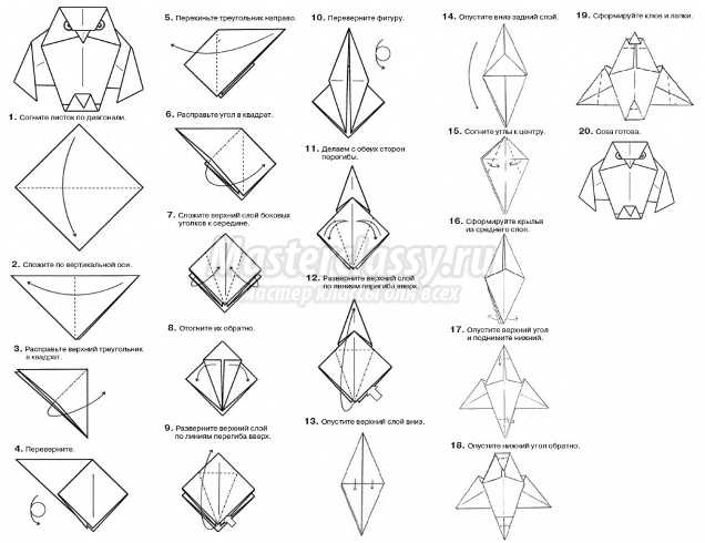 Оригами как сделать сову