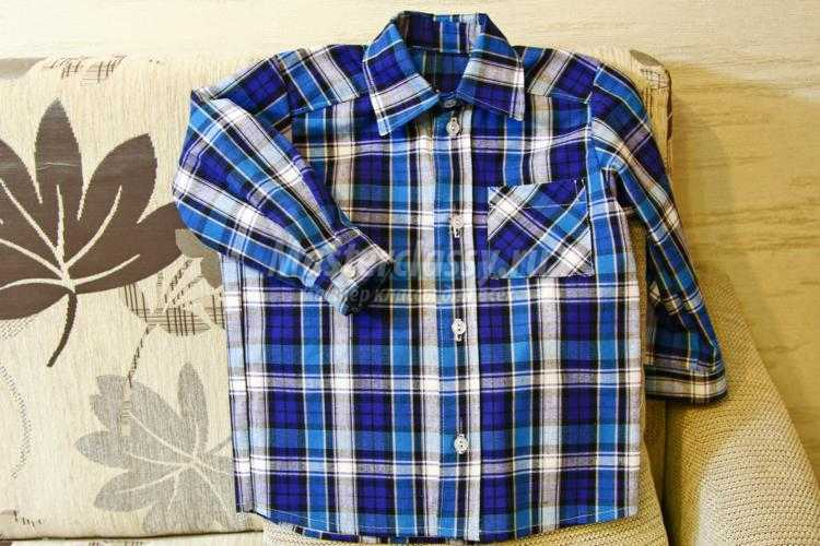 рубашка своими руками для мальчика на 2 года