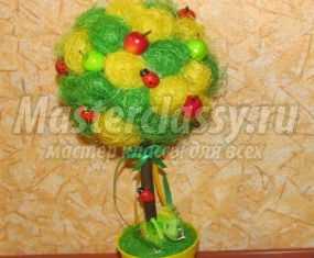 фото топиарии из сизалевых шариков