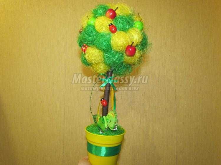 Топиарии из сизалевых шариков фото мастер класс