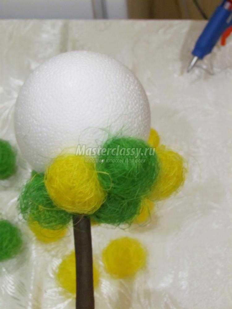 Топиарий сизалевые шарики