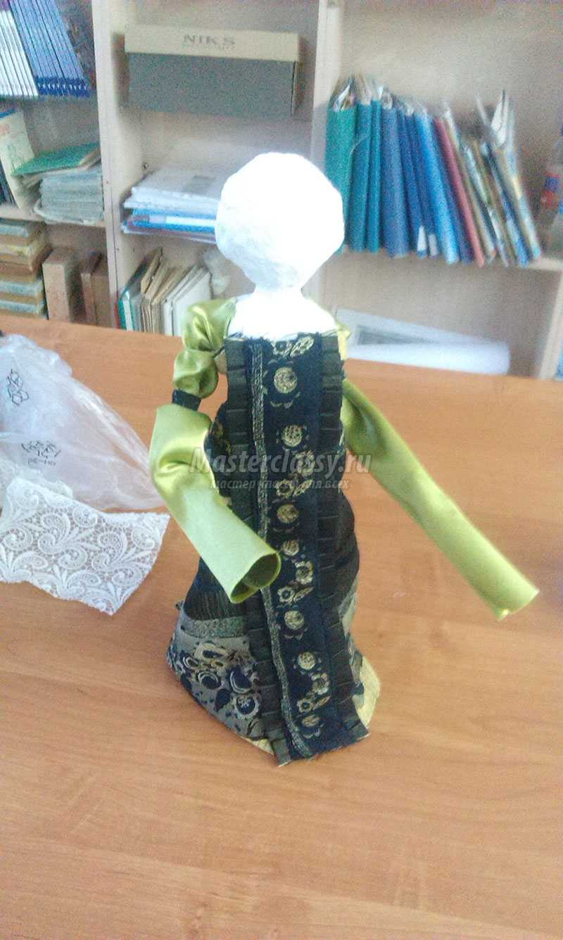 Кукла из папье-маше своими руками мастер класс фото