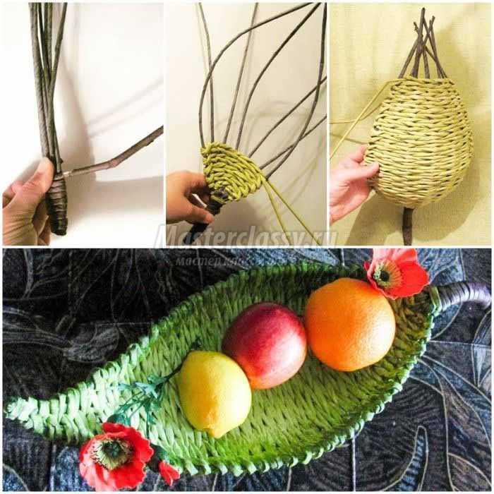 Плетение из газетных трубочек: лучшие идеи с подробными фото