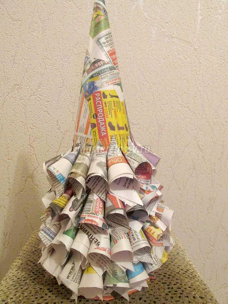 елка из газеты своими руками