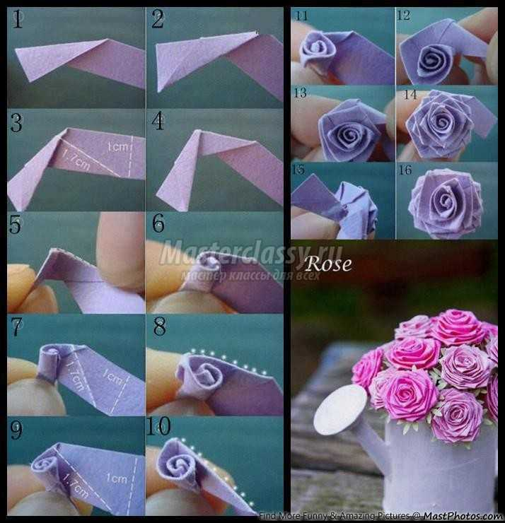 Делаем розу из бумаги своими руками поэтапно