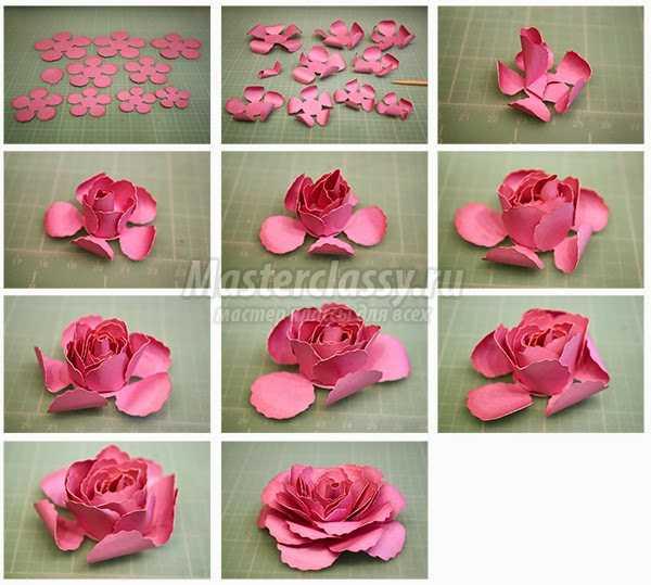 Роза из бумаги своими руками маленькие 58