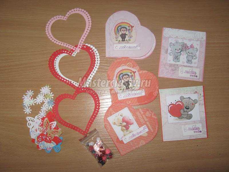 скрапбукинг валентинки