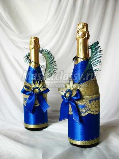 Бутылка шампанского на новый год своими руками. Подробные мастер-классы с фото.