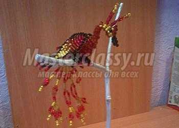 Пошаговый мастер класс жар птица из бисера